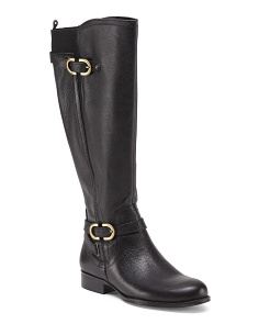 Jennings Leather Wide Calf Boots
