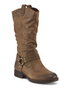 Mid Shaft Leather Boots