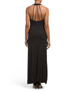 Juniors Strappy Back Maxi Dress