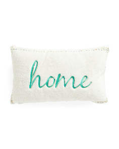 12x20 Sherpa Home Embroidered Pillow
