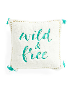 16x16 Sherpa Wild And Free Pillow