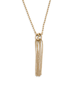Made In Italy 18k Yellow Gold 1973 Tassel Necklace