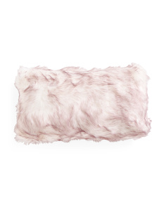 14x24 Quail Tipped Faux Fur Pillow