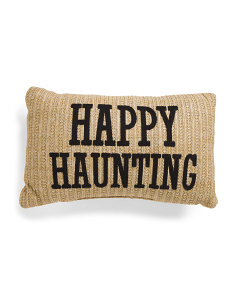 14x24 Woven Happy Haunting Pillow