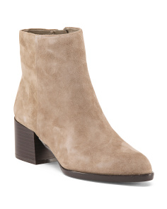 Pointy Toe Suede Booties