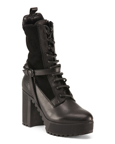 Annika Leather Platform Boots