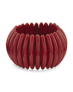 Coral Tribal Stretch Bracelet
