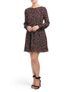Silk Georgette Shirt Dress