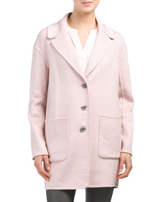 Double Face Melton Wool Blend Coat