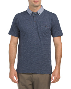 Heathered Jacquard Polo