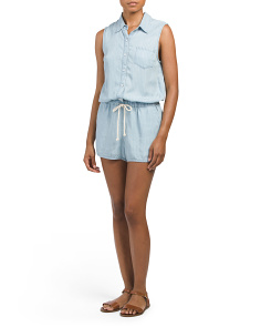 Made In USA Sleeveless Romper