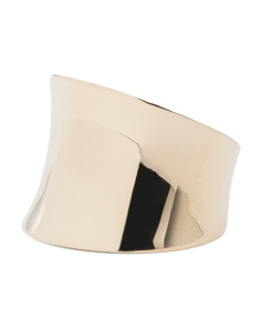Made In Italy 14k Gold Polished Saddle Ring