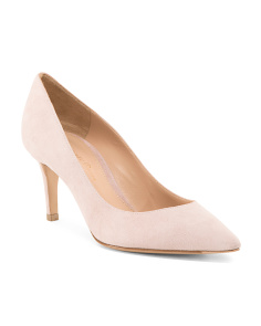 Made In Italy Pointed Toe Suede Pumps