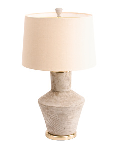 Concrete Lamp With Wood Accent