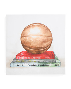 Kids Basketball Books Canvas Wall Art