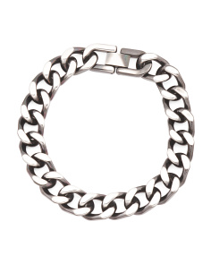 Men's Gunmetal Curb Link Bracelet
