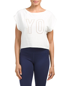 Embellished Yoga Top