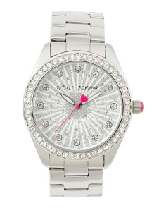 Women's Glitter Dial Bracelet Watch In Silver