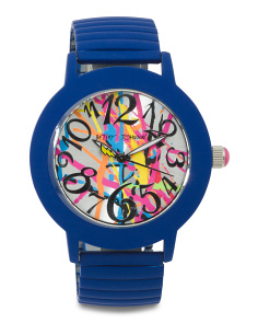 Women's Graffiti Dial Expansion Strap Watch