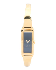 Women's Swiss Made G Frame Rectangular Bracelet Watch