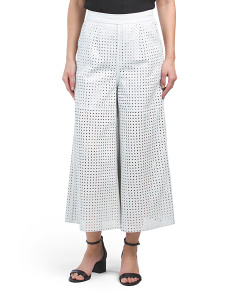Lamb Leather Gaucho Pants