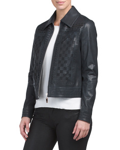 Lancy Leather Bomber Jacket
