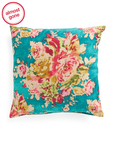 Made In USA 24x24 Floral Pillow