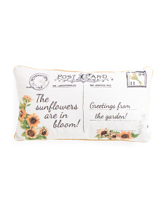14x24 Sunflower Postcard Pillow