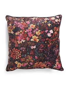 20x20 Velvet Fall Floral Pillow