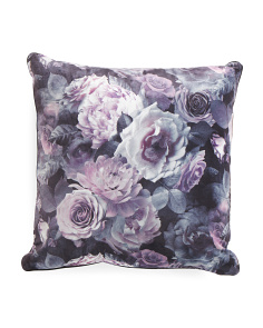 20x20 Digital Print Floral Pillow