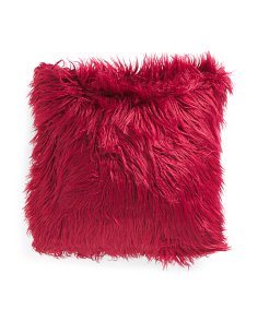 20x20 Faux Mongolian Fur Pillow