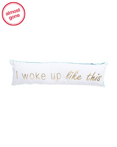 16x54 Graphic Text Large Body Pillow