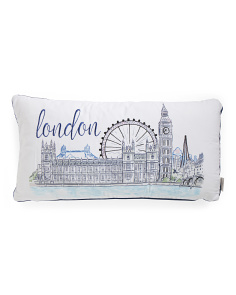 14x27 London Scenery Pillow