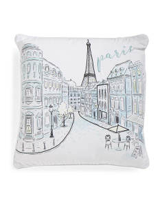 20x20 Paris Scene Pillow