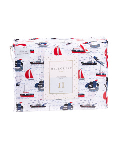 Kids Sailing Ship Sheet Set