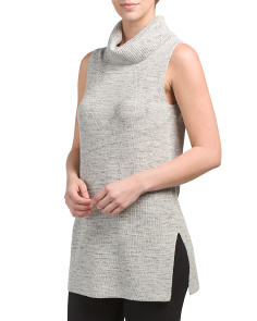 Hazy Turtleneck Tunic Sweater