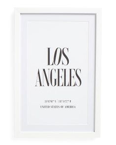 12x18 La Print Framed Wall Art