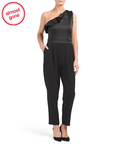 Satin & Crepe Jumpsuit