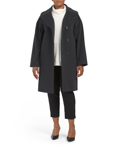 Plus Cashmere Blend Coat