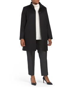 Plus Made In Italy Cashmere Blend Coat