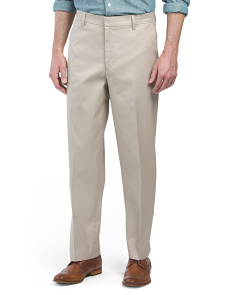 Classic Fit Flat Front Stretch Pants