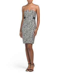 Strapless Jacquard Dress