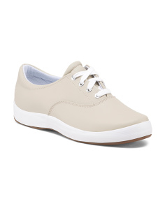 Wide Classic Comfort Leather Sneakers