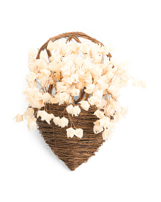 20in Faux Floral Wall Basket