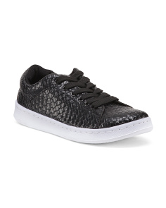 Woven Lace Up Sneakers