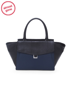 Leather Lonni Satchel