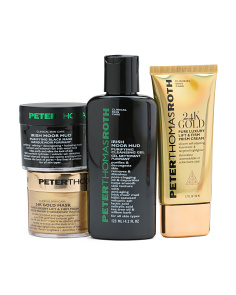 4pc Black And Gold Skin Care Kit