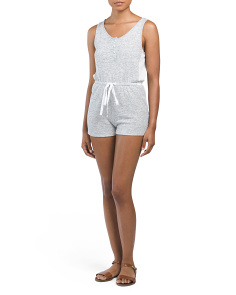 French Terry Knit Romper