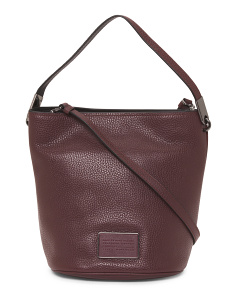 Leather Ligero Bucket Bag
