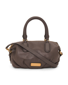 New Q Small Legend Leather Satchel